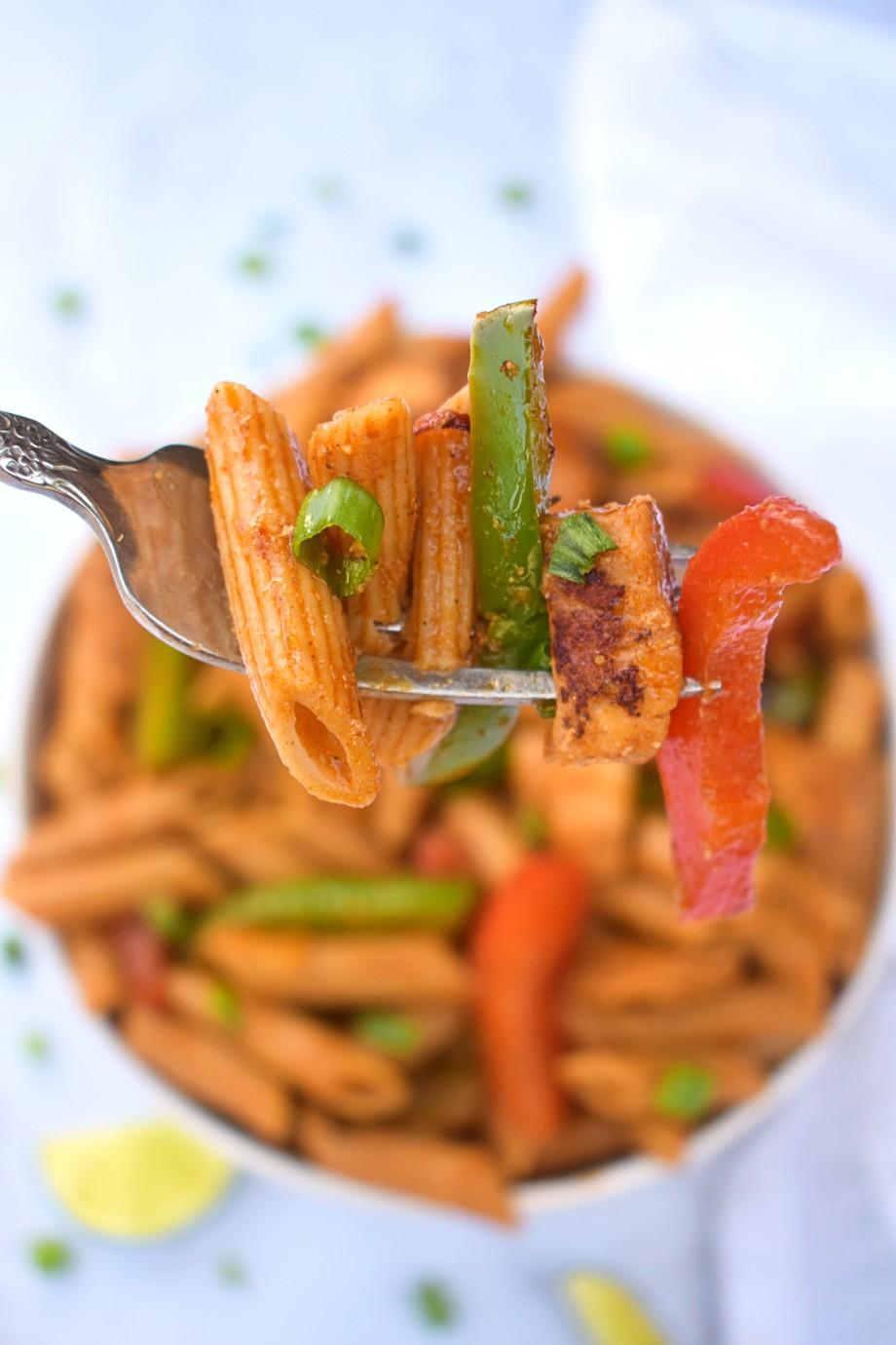 pan of Chicken Fajita Pasta