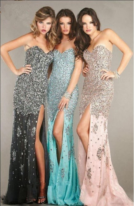 Magic Prom Party: Prom Dresses in One Style, Different Colors