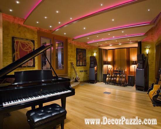 led ceiling lights for media room ceiling design, drawing room ceiling