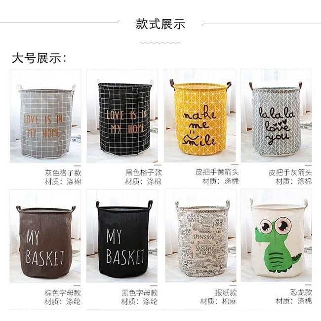 Foldable Laundry Basket Cantik Dan Murah