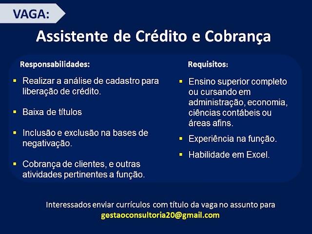 Assistente de Crédito e Cobrança