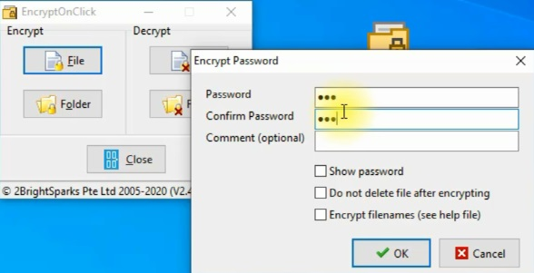 برنامج Encryptonclick