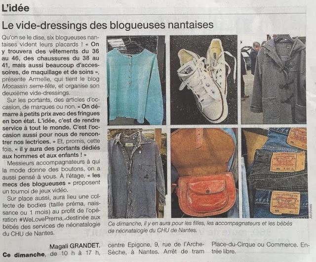 vide-dressing, ouest france, presse, nantes, bullelodie