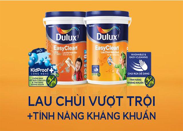 Dòng sơn Dulux lau chùi vượt trội và có tính năng kháng khuẩn cao