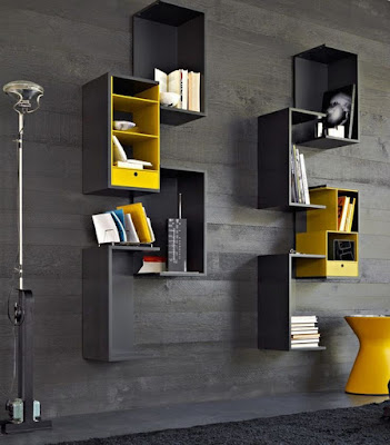 Decorative corner wall shelves design ideas for modern home interior