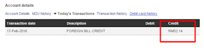 foreign bill credit
