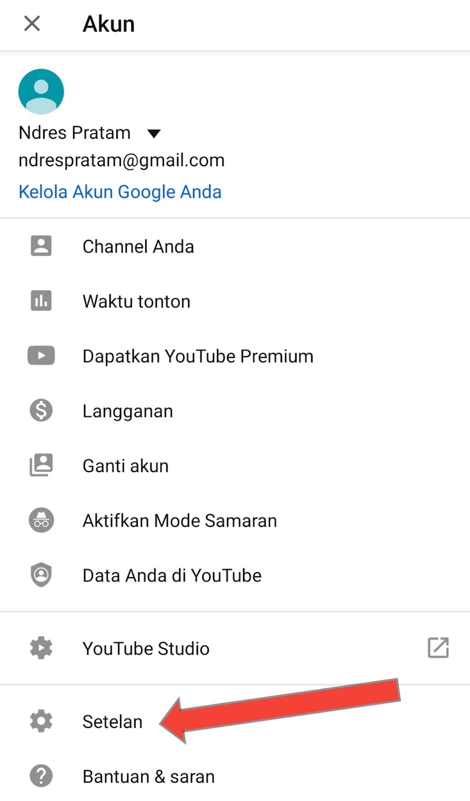 Cara merubah tema youtube dari android, ios, pc