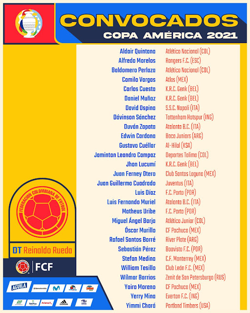 Jugadores de Colombia