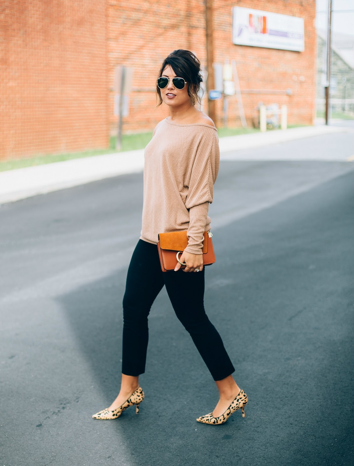 off the shoulder sweater, j crew martie pants, chloe faye, chloe faye dupe