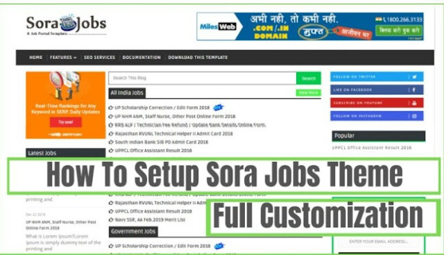 How To Customize Sora Job Blogger Theme