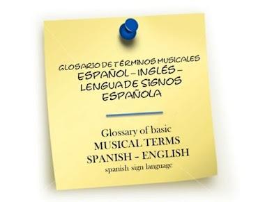 Glosario de términos musicales español - inglés - LSE