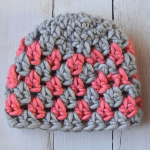 Super Chunky Crochet Granny Hat - Free Pattern