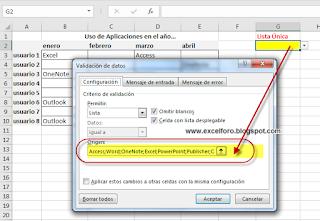 VBA: Validación Datos con Registros Únicos
