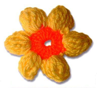 Patrón #1724: Flor a Ganchillo