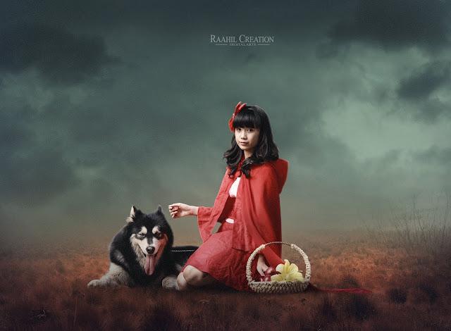 Dog and Woman Friendship - Photoshop Manipulation Tutorial