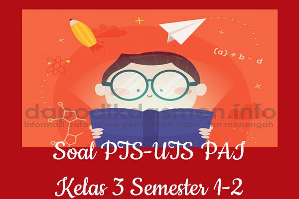 Soal PTS UTS PAI Kelas 3 Semester 1 SD MI Tahun 2019-2020
