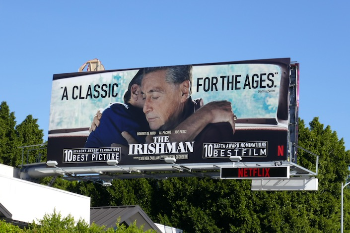 Irishman classic for the ages Oscar nominee billboard