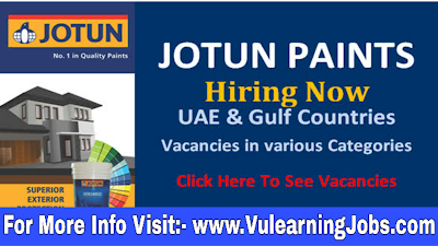 Jotun Paints Chemical Company Jobs 2019