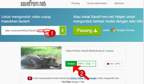 langkah-langkah mengunduh video youtube