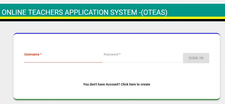 Online Teachers Application System : OTEAS Tamisemi
