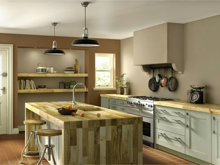 Contrasting kitchen wall colors 15 cool color ideas for Farbbeispiele wand
