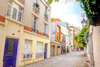 Paris : Passage du Moulinet, coquette ruelle à la lisière de la Butte aux Cailles - XIIIème