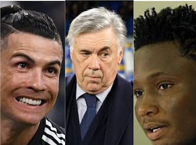 carlo ancelotti names his best 11 players and leaves out ronaldo
