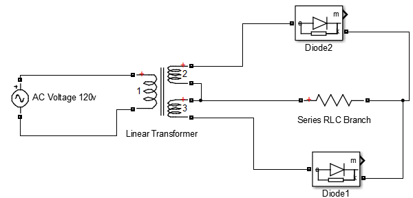 Full Wave Rectifier Circuit Diagram In Matlab