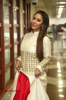 Telugu Actress Sri Reddy Mallidi Stills in White Beautiful Dress at Marriage Needs Bridal Fashion Week 2017 Logo Launch  0011.JPG