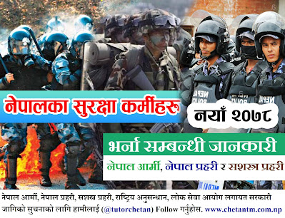 Nepal Army, Nepal Police and APF Nepal New Vacancy Details (2078/79)