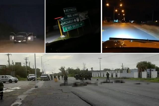 Estatales de Tamaulipas levantaron 9 Sicarios del Cártel del Golfo y los entregaron por dinero al CDN para que fueron ejecutados