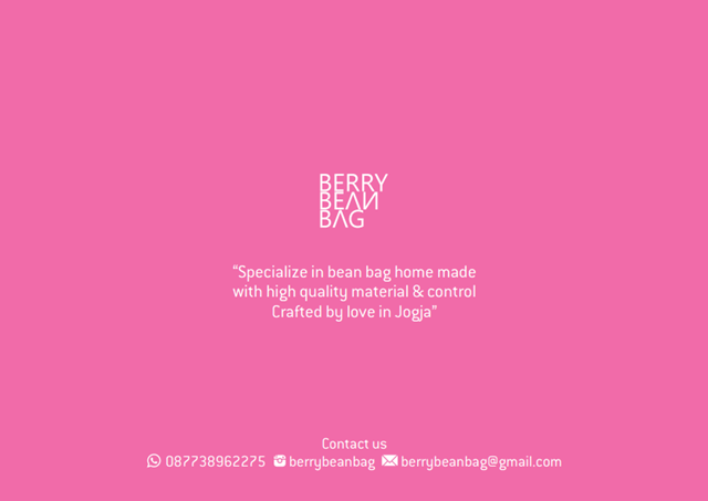 Instagram Berry Bean Bag