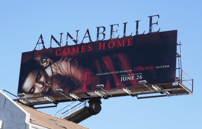 Annabelle Comes Home movie billboard