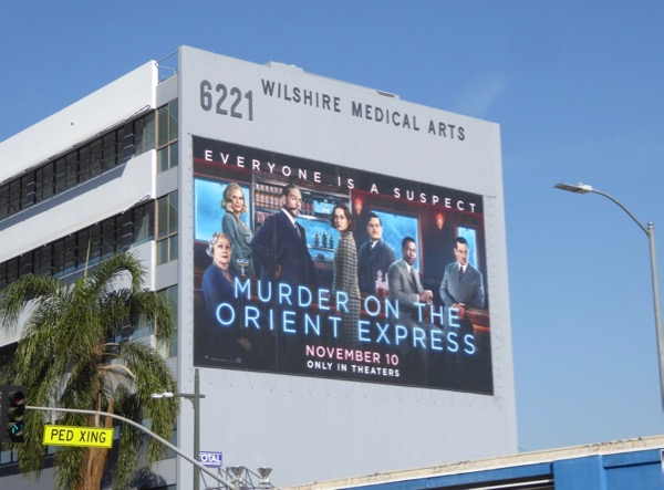 Giant Murder on Orient Express movie billboard