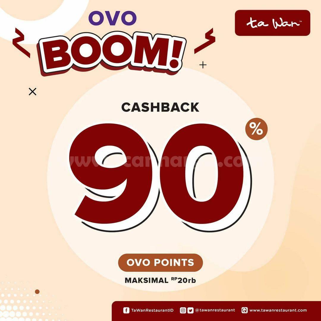 TA WAN Promo OVO Boom Cashback hingga 90%