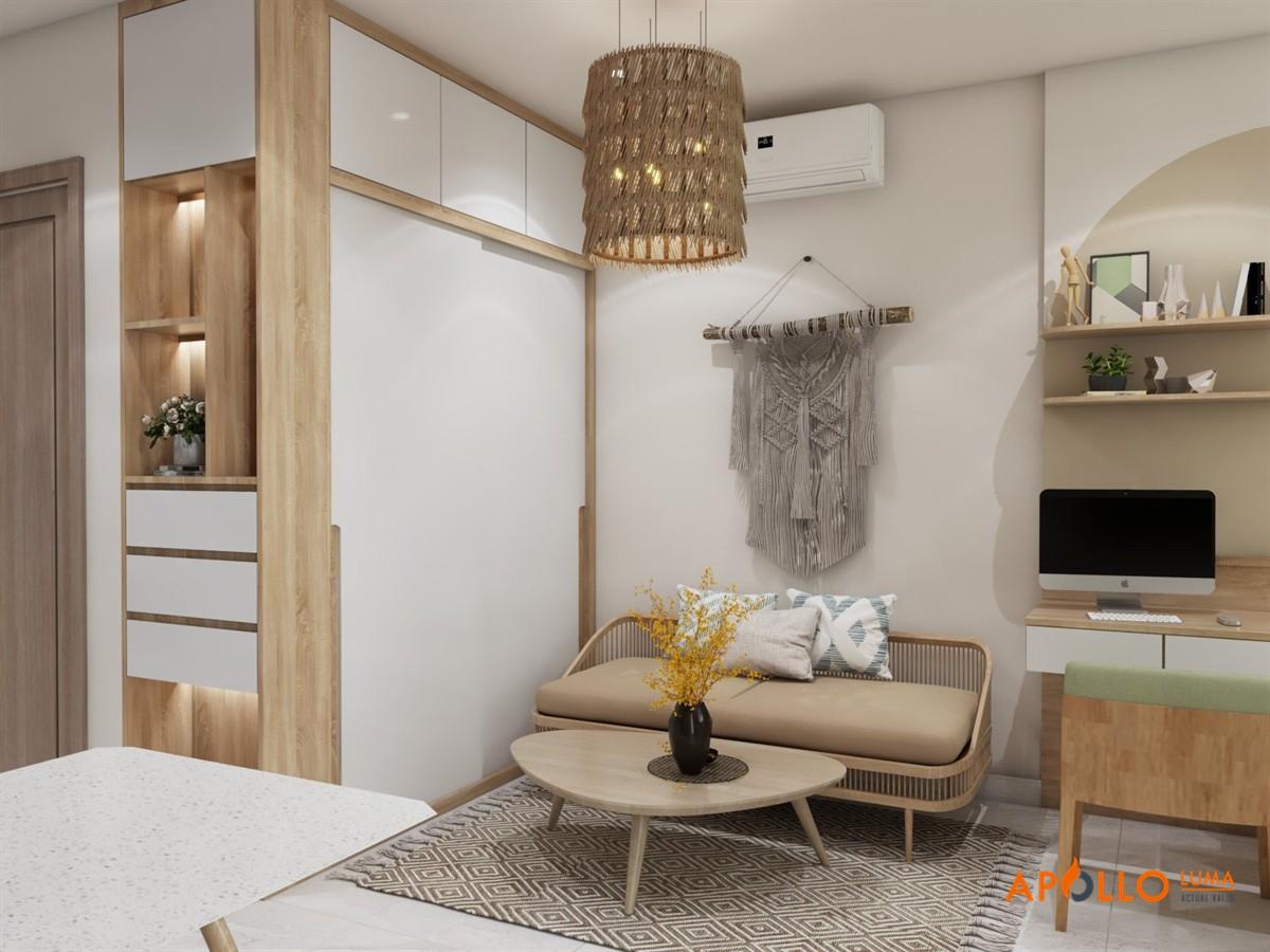 Thiết kế nội thất căn Studio (28m2) Vinhomes Ocean Park