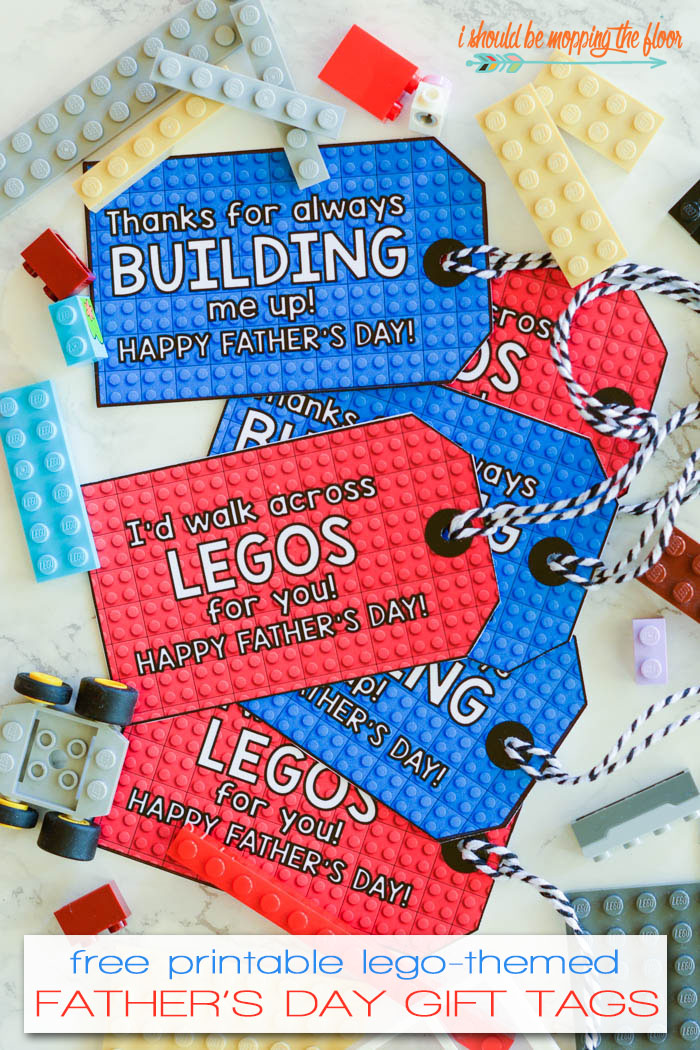 Free Printable Father's Day Gift Tags with a fun LEGO theme!