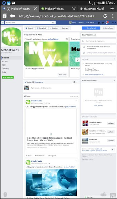 Membuka Facebook Dengan Puffin Browser