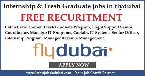 Internship Program & Fresh Graduate jobs in flydubai