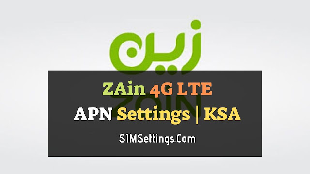 Zain APN Settings for Android