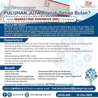Marketing Engineer di PT Budijaya Makmursentosa