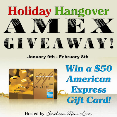 Enter the Holiday Hangover AMEX Giveaway Event. Ends 2/8
