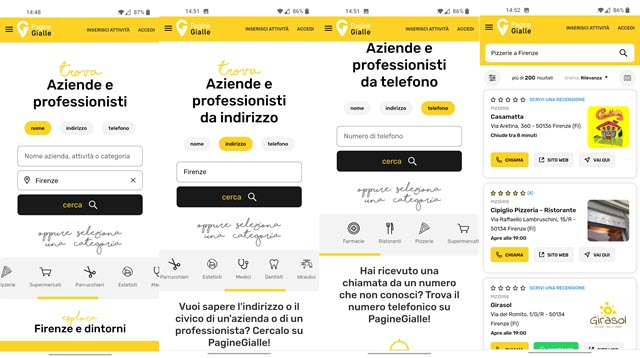pagine gialle app android