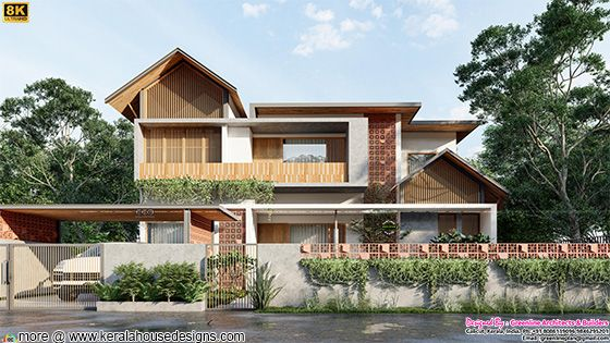 Tropical mixed roof house with 4 bedrooms