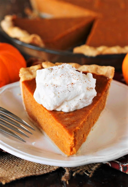 Slice of Pumpkin Pie with Sweet Potatoes Image