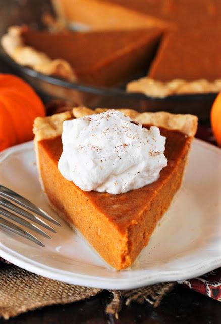 Slice of Pumpkin Pie with Sweet Potatoes Image