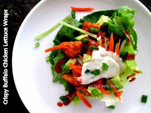Crispy Buffalo Chicken Lettuce Wraps
