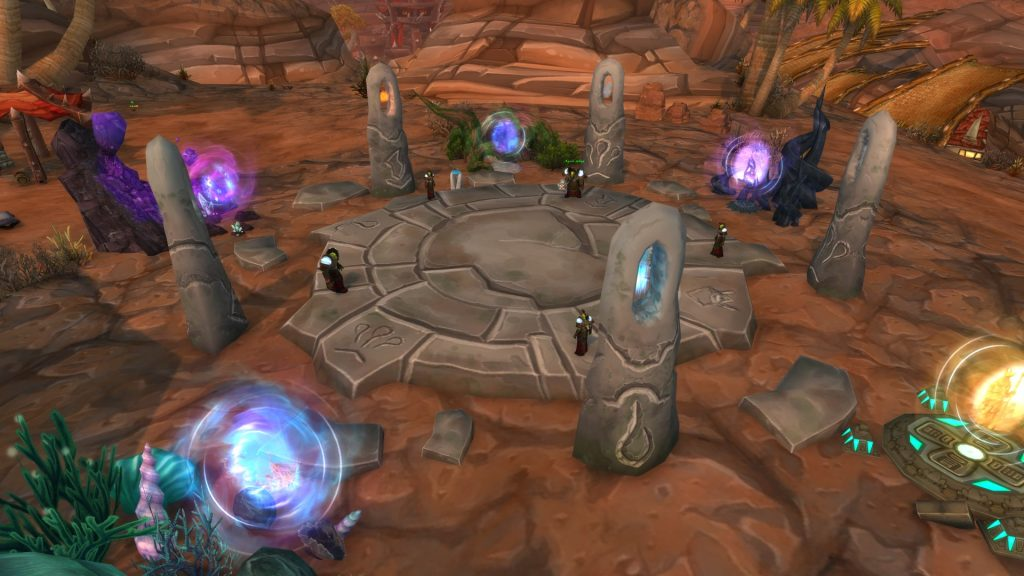 These portals lead into the Cataclysm areas.