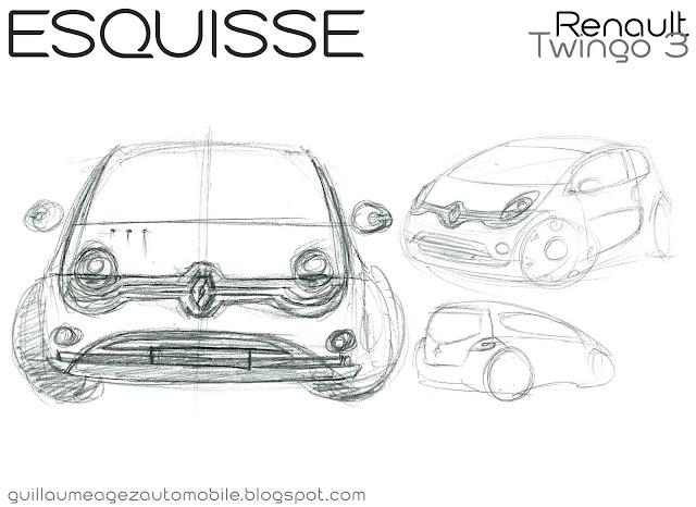 Guillaume AGEZ Automobile: Esquisse : Renault Twingo 3 Suite