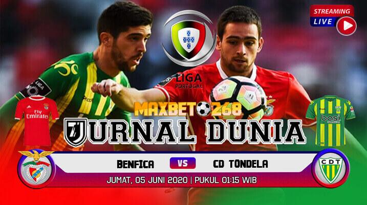 Prediksi Bola Benfica Vs CD Tondela 05 Juni 2020 Pukul 01.15 WIB